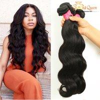 Wholesale Cheap Hair Weave Free Shipping - Hot Gaga Queen 8A Peruvian Virgin Hair Body Wave Dyeable Cheap Peruvian Hair Extensions 100% Human Hair Weaves 3Bundles Free Shipping