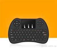 sensor táctil al por mayor-2.4GHz Inalámbrico H9 Fly Air Mouse Mini QWERTY Teclado con Touch Pad Android TV Box Control remoto Controlador Gamepad para IPTV T95