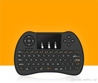 Wholesale Iptv Remote Control - 2.4GHz Wireless H9 Fly Air Mouse Mini QWERTY Keyboard with Touch Pad Android TV Box Remote Control Gamepad Controller for IPTV T95