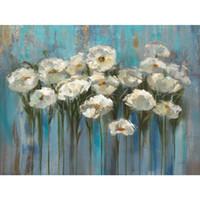 pinturas abstratas modernas da flor venda por atacado-Flor abstrata pinturas a óleo Silvia Vassileva Anemones pelo Lago arte moderna para decoração de parede pintados à mão