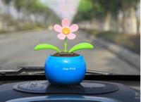 Wholesale Solar Energy Swing - New Solar Energy Apple flowers automatically swing sun   car desk accessories Best price Wholesale