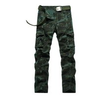 Wholesale Men S Military Uniform - Men s Personality Camouflage Uniforms Long Trousers Cargo Pants Military Pants Good Quality Pockets Army Green plus size