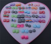 36pairs / lot Mix Colors Shapes Fashion Resin Plastic Stud Earrings para crianças Girls Female Jewelry Wholesale