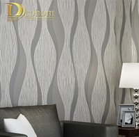 All'ingrosso-Salotto Divano Bianco Grigio Biglietti da Parete 3D Progettazione Moderno Decorazione Decorativa Wall Wallpaper Geometrico Bandiera Striped Roll R509