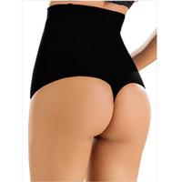 Wholesale Bamboo Shapewear - Women Butt Lifter Shaper Tummy Control Panties Shapewear Thongs Underwear