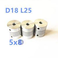 Wholesale Coupling Flexible - Wholesale- 5pcs 5*8mm Flex Shaft Coupling Diameter 18mm Length 25mm 5mm to 8mm Flexible Shaft Coupler