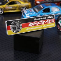 Wholesale Car Sticker Tree - Aluminum alloy AMG Apple Tree Sticker 3D Car Badge Sticker AMG Emblem Trim Accessories For GLK A B C E GLC ML GL