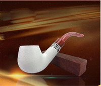 Wholesale Cigars Usa - Beautiful Design Meerschaum Smoking Pipe Tobacco Cigarette Cigar Pipes Classic Durable Cigarette Holder Popular with USA Smokers