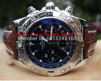 relojes cronomat al por mayor-Reloj de pulsera original de lujo de los relojes de la marca 44mm B01 Chronomat AB0110 Relojes de lujo hermoso reloj azul de los hombres