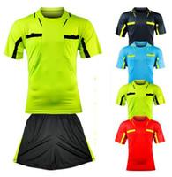 fußball spielen großhandel-Benwon- Fair Play professionelle Fußball Schiedsrichter Trikots Sport Kleidung Anzug Sets Fußball Schiedsrichter Kits de Futbol Richter T-Shirts