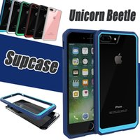 Wholesale unicorn beetle - Supcase Unicorn Beetle Hybrid Hard Back Bumper Case Clear TPU + PC Cover For iPhone 8 7 Plus 6 6S Samsung S6 Edge Note 5 With Retail Package