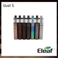 Wholesale Top Head Atomizer - iSmoka Eleaf iJust S Kit 3000mah Battery 4ml iJust S Atomizer Top Filling 0.18ohm ECL Head Airflow Control 100% Original