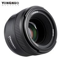 Wholesale Manual Focus Cameras - DHL Ship YONGNUO YN50mm F1.8 Standard Prime Lens Large Aperture Auto Manual Focus AF MF for Nikon DSLR Cameras