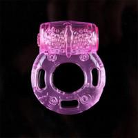 jouets de coqs de silicium achat en gros de-Prix le moins cher!!! Papillon Anneau Silicium Vibrant Anneau De Pénis Anneaux De Pénis Sex Toys Produits De Sexe Jouet Pour Adultes
