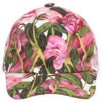 sombreros de cubo rosa al por mayor-Sombreros de las muchachas Verano 2017 Marca Niños Rosa 'Rose Bianco' Cap de pico Diseñador Niñas Cubo Sombreros Flor Niños Sombrero de Sun para Chica