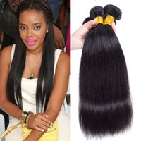Wholesale Mink Brazilian Peruvian Virgin Hair Weave Bundles Remy Human Straight Hair Weaves Weft Cheap Malaysian Indian Cambodian Human Hair Ponytail