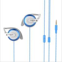 Wholesale Mp3 Bag Earphones - OVANN Headphones In Ear Earphones Music Ear Hook With Bag Deep Bass headphone For Phone Mp3 Mp4 Noise Cancelling Headphones
