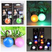 Wholesale Dog Blinker Lights - Dog LED Flash Safety Night Light Keychain Tag Anti-lost Flashing Dogs Blinker Collars Pendant Equipment 9 color Dog Tag Pet Supplies ZA2890