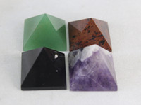Wholesale NATURAL amethysts obsidian aventurine Red obsidian QUARTZ CRYSTAL PYRAMID Healing
