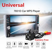 """Wholesale Din Bluetooth - Universal Car MP5 Media Player with Rear Camera 6.6"""" Touch Screen 2 DIN Bluetooth FM Radio Stereo Player Support as Car DVD Function"""