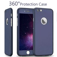 Pour Iphone 7 Screen Protection Housse de protection à 360 degrés en verre trempé Housse de mode colorée pour iPhone 7 Plus iPhone 6 plus Package de vente au détail