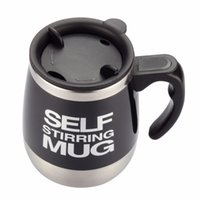 Wholesale mixing mug - Self Stirring Coffee Cup Mugs Double Insulated Coffee Mug 450 ML Automatic Electric Coffee Cups Smart Mugs Mixing CoffeeCup