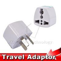 Wholesale Travel Adaptors Uk - New Power Adapter Travel Adaptor 3 pin AU Converter to US UK EU Universal AU Plug Charger For Australia New Zealand