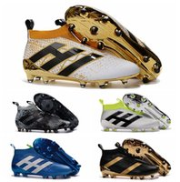 Wholesale Pack 16 - Mens Women ace 16 soccer cleats kids soccer shoes ace 16 purecontrol fg high ankle football boots Youth no lace shoes Stellar Pack