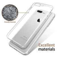 Wholesale Iphone Transparent Edge - Ultra Thin for Iphone 7 Plus Iphone 6S Plus Case S8 S7 Edge S6 Edge Plus Crystal Clear TPU Silicone Soft Cover