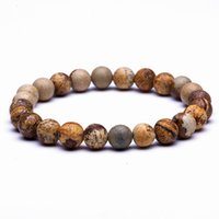 Wholesale buddha wood chain resale online - Natural Stone Beads Bracelets High Quality Tiger Eye Buddha Lava Round Beads Elasticity Rope Bracelets For Women Men Jewelry Christmas Gift