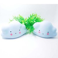 Wholesale Smiling Faces Lamps - Novelty Cloud Smile Face Night Light Childrens Bedroom Nursery Night Lamp Mini Cloud Light Emitting Children Room Decoration