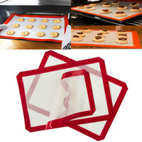 Wholesale Microwave Oven Glass - New Non Stick Silicone Mats Heat Resistant Microwave Oven Pot Baking Cooking Baking Sheet Glass Fiber Pad 60*40cm 42*29.5cm WX9-12