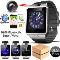 Wholesale wrist wach - Smart Watch Digital DZ09 U8 Wrist with Men Bluetooth Electronics SIM Card Sport Smartwatch camera For iPhone Android Phone Wach