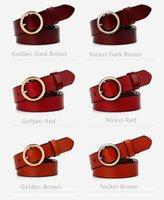 Wholesale Wholesale Jean Prices - Fashion Waist Strap Cowhide Belts for Women Factory Price Leisure Jean Belt Simply Real Leather Cummerbund