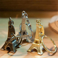 Wholesale paris keychain souvenir for sale - Group buy Couple Lovers Key Ring Advertising Gift Keychain Alloy Retro Eiffel Tower Key Chain Tower French Souvenir Paris Keyring for Cars Accessories