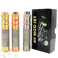 Wholesale copper electronics mods for sale - Newest AV SS Able Four Rings Mod Kit colors mm Diameter Fit Battery Silver Copper Brass Electronic Cigarette DHL Free