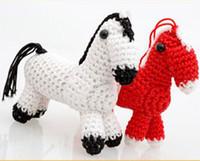 Wholesale Wholesale Art Furniture - Knitting Wool Handicraft Zodiac Horse Pure Hand-Made Furniture Home Furnishing Decorations Handmade DIY Horse Creative Christmas Gift DHL