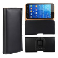 Wholesale Leather Cellphone Holsters Iphone - Leather Universal Horizontal Holster Cellphone Cases Belt Clip Pouch for iphone 7 7plus Samsung S7 Edge Magnet Cover Black