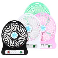 Wholesale Indoor Lights China - F95B Mini Portable Fan Multifunctional USB Rechargerable Kids Table Fan LED Light 18650 Battery Adjustable 3 Speed for Indoor Outdoor Kids