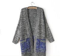Wholesale Thick Crochet Top - Wholesale-VVTS 2016 New Fashion Women Casual Knitted Sweater Women Long Sleeve Coat Jacket Outwear Tops Ladies Warm Fashion Cardigan