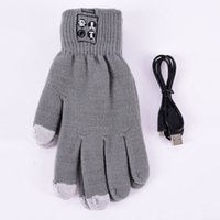 Оптовые модные Bluetooth зимние женские мужчины Unisex Warm Call Talking Gloves Black Grey Hand Gesture Touch Screen Speaker Mic M6