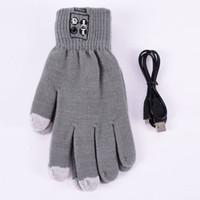 Wholesale gesture bluetooth speakers - Wholesale- Fashion Bluetooth Winter Women Men Unisex Warm Call Talking Gloves Black Grey Hand Gesture Touch Screen Speaker Mic M6