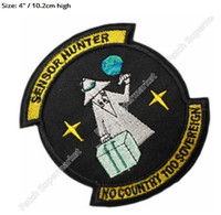 """Wholesale T Shirt Teen Boy - 4"""" NRO Sensor Hunter Area 51 Aliens Space Movie TV Series Costume Embroidered iron on patch Teen Girls Boys T-shirts TRANSFER"""