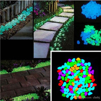 Wholesale fish tank toys - 100x Glow In The Dark Pebbles Stone Home Garden Walkway Aquarium Fish Tank Decor Newest Decorative Gravel For Your Fantastic Garden or Yard