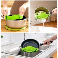 Wholesale Tea Strainer Sieve - Silicone Heat-resistant Washing Sieve Kitchen Cleaning Tool Strainer Draining free shipping