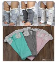 Wholesale Lace Ruffled Baby Leggings Wholesale - Free Shipping Toddlers Baby Kids Knitted lace Ruffles Leg Warmer,Leggings Baby Clothes Infant Wear 20pairs