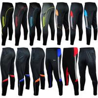 futbol ayakları toptan satış-SıCAK erkekler spor Atletik parça sıska futbol pantolon bacaklar Jogging Yapan Futbol Eğitimi 2015 spor erkek Sweatpants Koşu Homme Pantolon