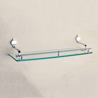 Wholesale Bolt Grades - Chrome Single Glass Shelf Brass Strong Wall Mounted Bath Room Corner High Grade Shower Soap Shampoo Holder Bathroom Shelves Sale Wholesale