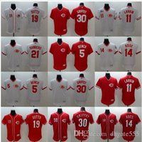 Wholesale Bench Shirts - Newest Mens Elite Cincinnati reds Barry Barry 30 Ken Griffey Jr. #14 Pete Rose #5 Johnny Bench #19 Joey Votto Baseball Jerseys Shirts 4XL