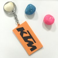 Wholesale Metal Keychain Price - Free shipping New PVC Rubber Motorcycle Keychain Racing keyring Key Chain for KTM team fans Motorcross Key Rings Wholesale Price
